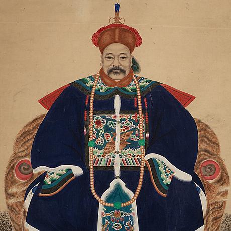 RullmÅlning, tusch och färg på papper. kina, 1900-tal.