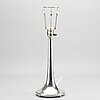 A swedish 20th century silver table lamp mark of cg hallberg stockholm 1926.