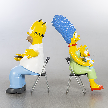 """The simpsons, 3 st, homer, marge och maggie, for """"simpson the movie"""" fox 2007."""