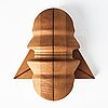Sivert lindblom, sculpture, wood, two pieces.