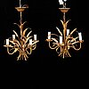 A  pair of late 20th century ceiling lights, probably italy.