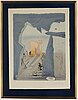 Salvador dali, lithograph in colors, signed and numbered 28/125.