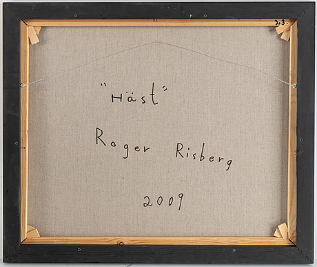 Roger risberg, oil on canvas, signed and dated 2009 verso.