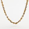 Cartier, an 18k white and yellow gold necklace. marked cartier, 740237.