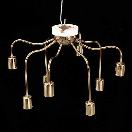 Josef frank, a model 2358 brass ceiling light from svenskt tenn.