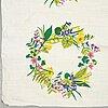Gocken jobs, two 'primavera' linen fabrics, jobs handtryck, leksand.