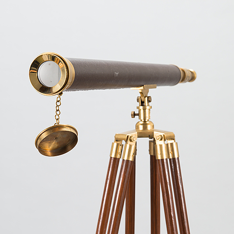 Telescope with tripods, late 20th century.