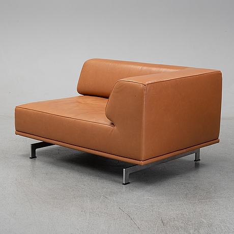 Hannes wettstein, sofa, model ej 450 for erik jørgensen. denmark. 21th century.