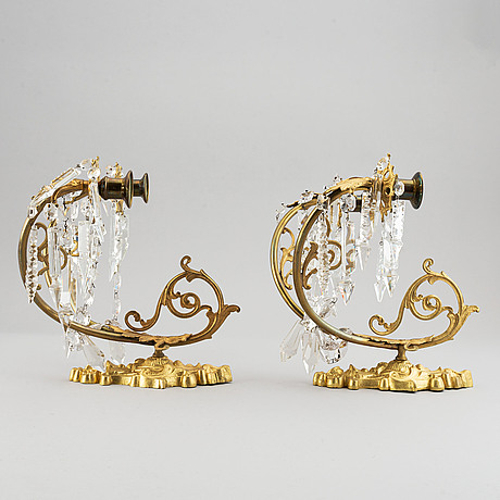 A pair of late19th century appliques.