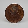 Svante nilsson, brons plaque. signed. diameter 19.5 cm.