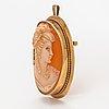 A cameo brooch/pendant with 14k gold frame. martti viikinniemi, heinola 1957.