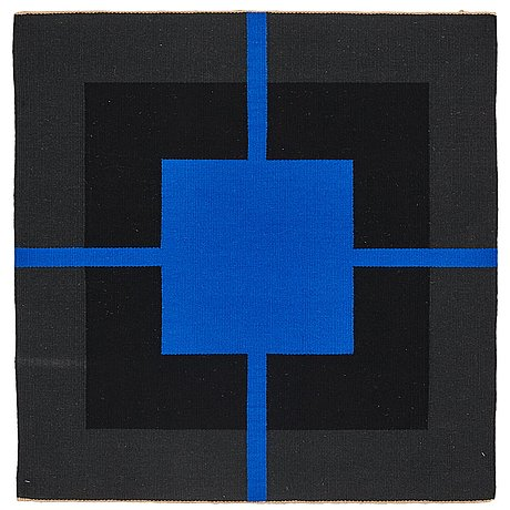 A tapestry, flat weave, ca 101,5-102 x 99-100 cm, signed and dated on a label at the back: ruth malinowski 1989.