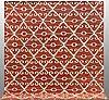A carpet, flat weave, ca 288 x 257 cm.