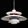 Poul henningsen, ph-5 ceiling light, louis poulsen.