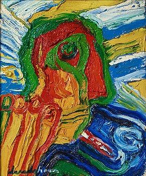 Bengt Lindström, oil on canvas, signed, estate stamp verso, executed in the 1990s.