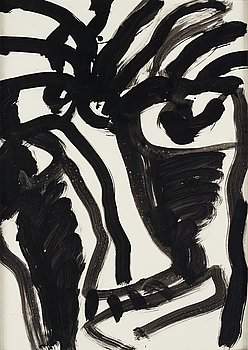 Bengt Lindström, acrylic on paper, 1990s, certified by Curt Aspelin verso.
