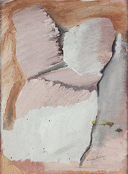 Bengt Lindström, oil on paper laid on canvas, signed and dated -57.