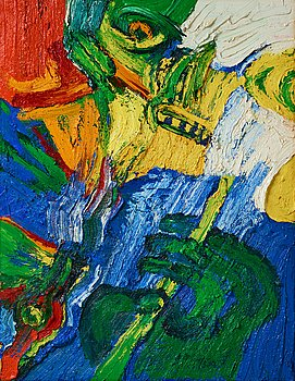 Bengt Lindström, oil on canvas, 1990s, estate stamp verso.