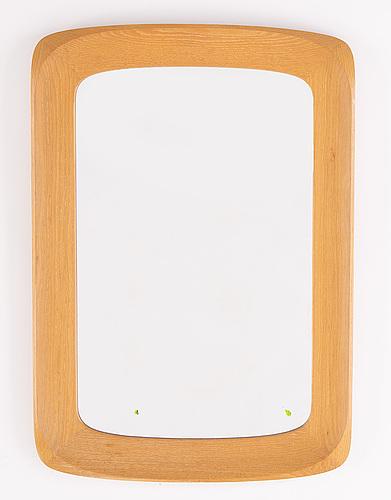 An oak mirror, glas & trä, 1950's/60's.