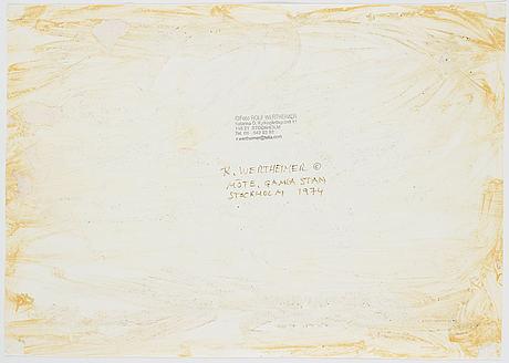 Rolf wertheimer, photograph stamped on verso.