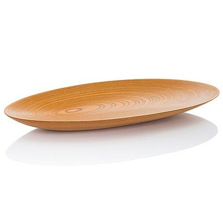 Tapio wirkkala, a plywood dish signed tw.