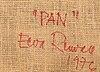 Eeva renvall, a 'pan' textile signed eeva renvall 1976.