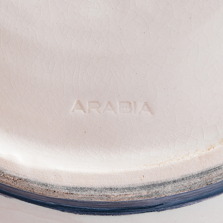 Elin juselius, a dish signed ej arabia.