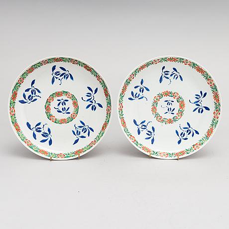 Lautasia, posliini, 8 kpl, kiina, 1900-luvun alku.