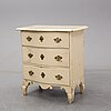 A mid-18th century late baroque chest of drawers.