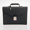 Louis vuitton, a taiga leather 'ambassador' briefcase.