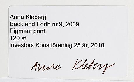 Anna kleberg, pigment print signed on verso, edition 120.