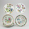 Five famille rose dishes, qing dynasty, qianlong (1736-95).