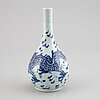 A blue and white vase, qing dynasty, 18th century.