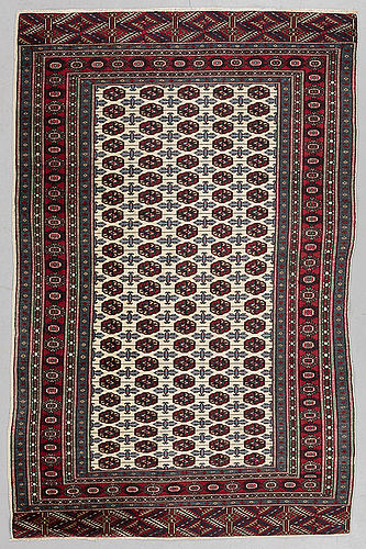 A rug, old turkmen, probably, ca 194 x 126 cm.