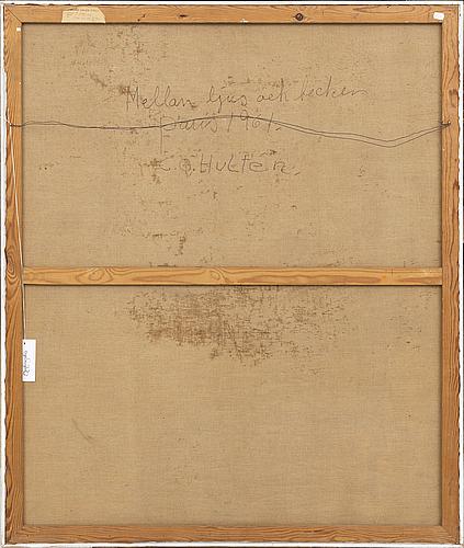 Co hultén, oil on canvas, signed 1961.