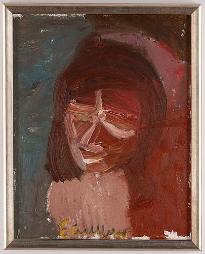 Erland cullberg, oil on canvas/paper-panel, signed.