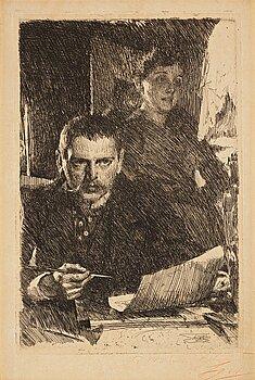 """338. Anders Zorn, """"Zorn och hans hustru""""."""
