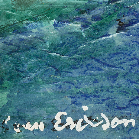 Sven x:et erixson, mixed media on paper, signed.