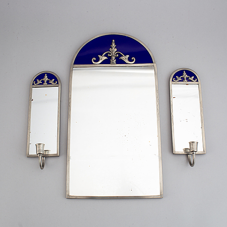 A set of three mirrors, probably 1930s.