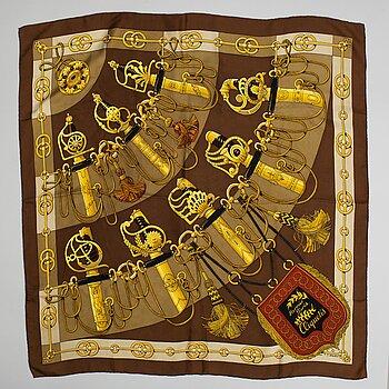 Hermès, a 'Cliquetis' silk scarf.