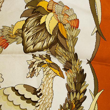 Hermès, a 'tahiti' silk scarf.