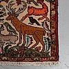 Matta, old persisk figural, ca 190 x 82 cm.
