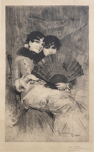 Anders zorn, a signed etching.