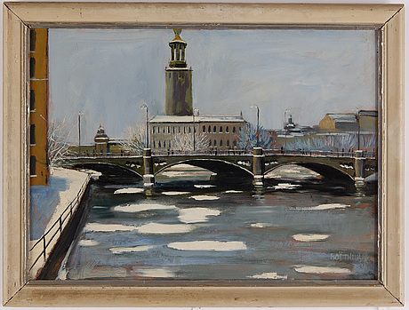Lars boëthius, oil on panel, signed.