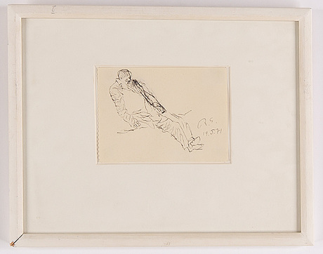 Ragnar sandberg, ink  drawing, signed and dated 19/5-71.