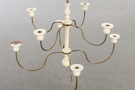 Josef frank, a wooden chandelier by josef frank at svenskt tenn, model 2586.