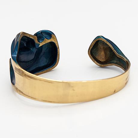 """Björn weckström, a fire bronze bracelet """"krupp"""". lapponia."""