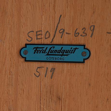 A mid 20th century sofa table, ferd. lundquist, göteborg.