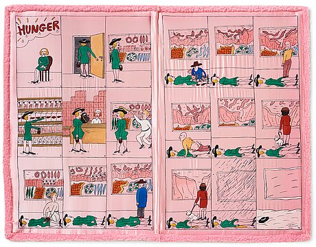 "Marie-louise ekman, ""hunger/pink silk book""."