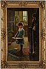 Alexander mark rossi, attributed to, oil on canvas, signed and dated 1882.